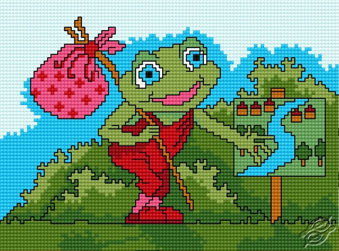 A Small Frog - Globe-Trotter by HaftiX - patterns - 00437
