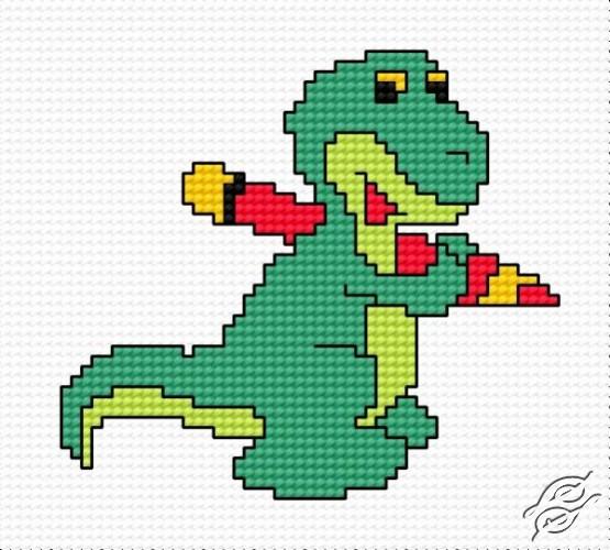 A Small Dragon by HaftiX - patterns - 00474
