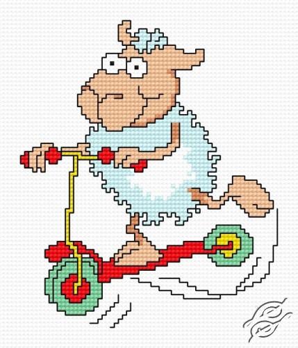 A Small Sheep V by HaftiX - patterns - 00484