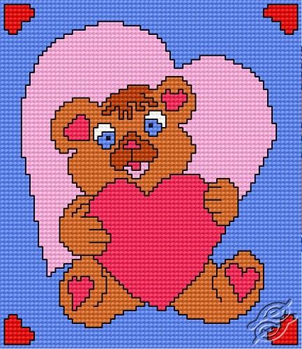 Teddy-bear with Heart by HaftiX - patterns - 00511