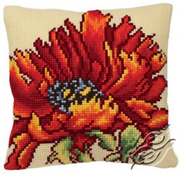 Cushion With Delicious Poppy by Collection D'Art - 5166