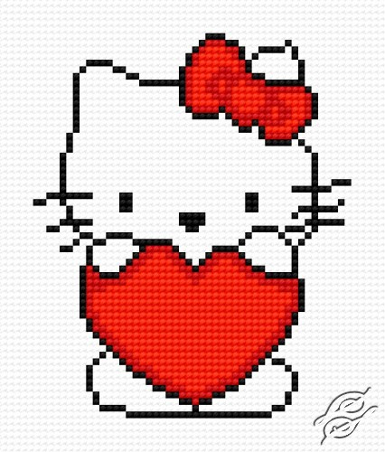 A Cat With A Small Heart by HaftiX - patterns - 00547