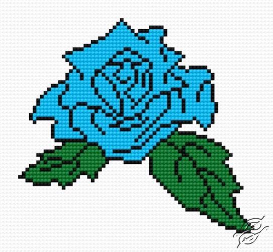 Blue Rose by HaftiX - patterns - 00564