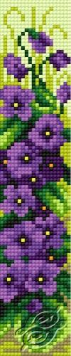 Bookmark In Violet Pattern II by HaftiX - patterns - 00602