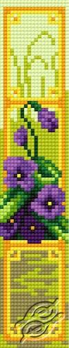 Bookmark in violet pattern I by HaftiX - patterns - 00603