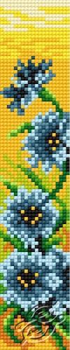 Bookmark In Cornflower Pattern I by HaftiX - patterns - 00613