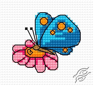 A Small Butterfly II by HaftiX - patterns - 00616