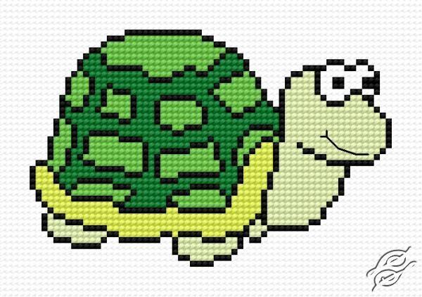 Green Small Tortoise by HaftiX - patterns - 00664