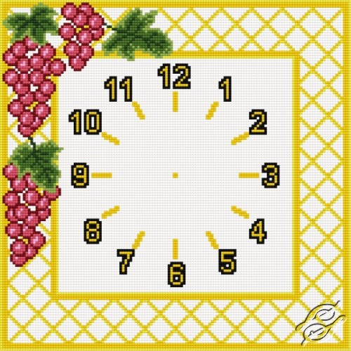 Clock With Grapes by HaftiX - patterns - 00867