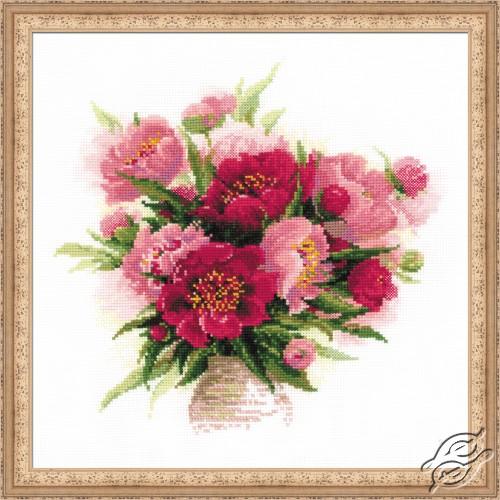 Peonies in a Vase by RIOLIS - 1259