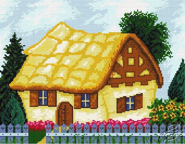 Seven Dwarf's Cottage by HaftiX - patterns - 00924
