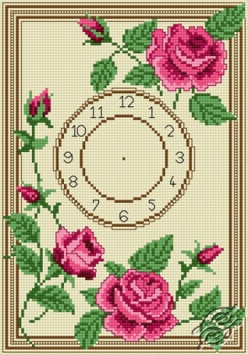 Clock With Roses by HaftiX - patterns - 00970