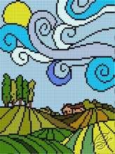 Striped World IV by HaftiX - patterns - 00979