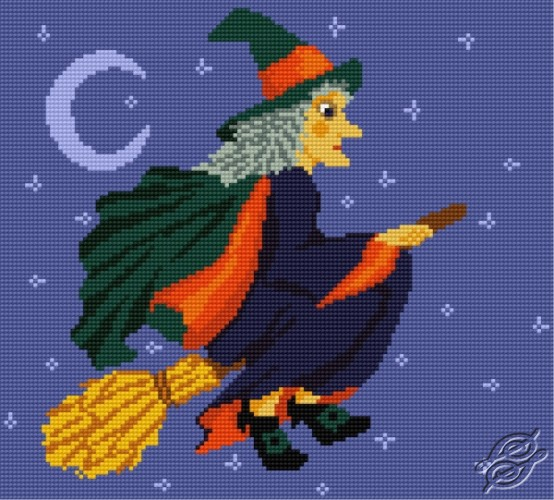 A Witch on a Broom by HaftiX - patterns - 001006