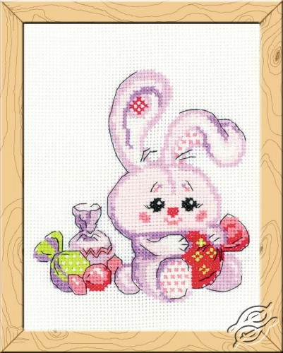 Bunny with a Candy by RIOLIS - HB119