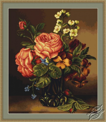 Vase of Roses and Flowers by Luca-S - B491