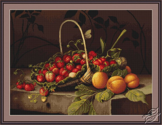 Basket with Strawberries by Luca-S - B487