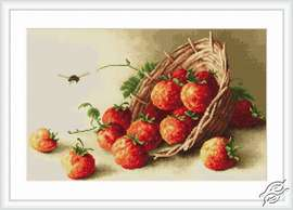 Basket with Strawberries by Luca-S - B497