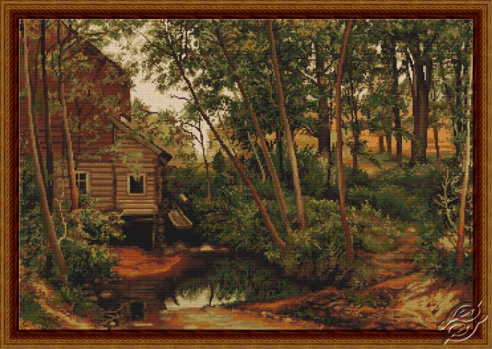 Water Mill in the Forest by Luca-S - B456
