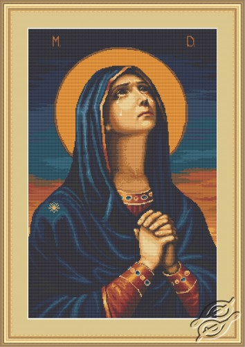 'Joy to All the Afflicted' Icon of the Mother of God by Luca-S - B443