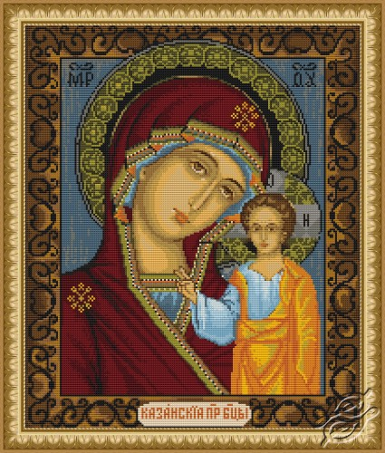 Icon of Kazan Mother of God by Luca-S - B436