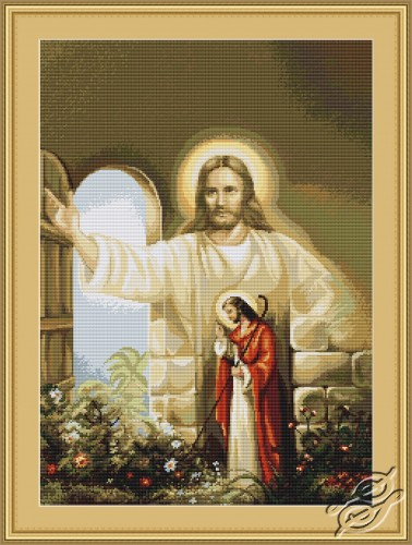Jesus Knocking at the Door by Luca-S - B411