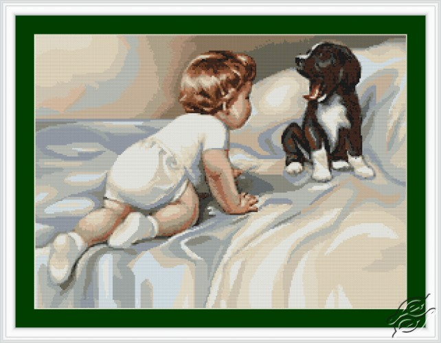 Boy with Dog by Luca-S - B374