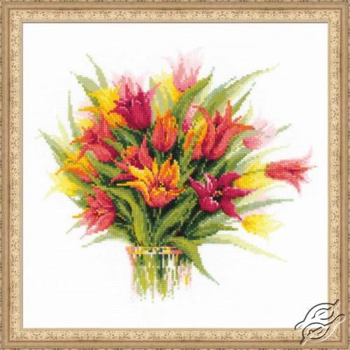 Tulips in a Vase by RIOLIS - 1293