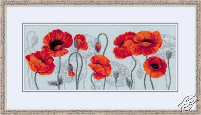 Scarlet Poppies by RIOLIS - 100/037