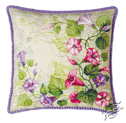 Pastel Bindweed Cushion by RIOLIS - 1347