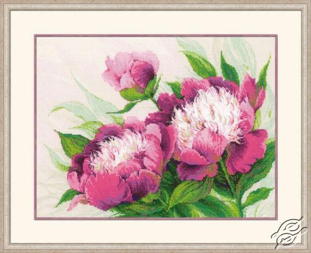 Pink Peonies by RIOLIS - 100/039