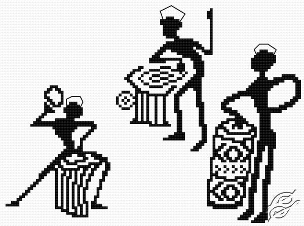 African Musicians by HaftiX - patterns - 01046