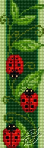 Bookmark With Ladybirds by HaftiX - patterns - 01062