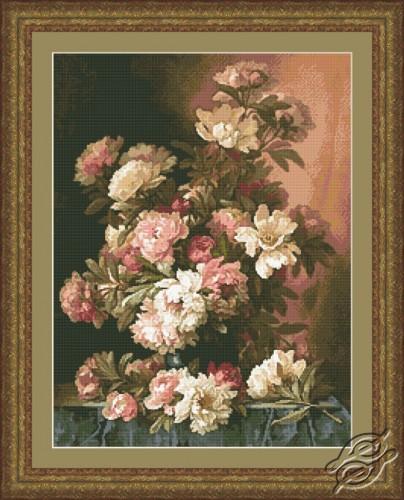 Pink and White Peonies by Kustom Krafts - 20253