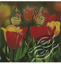 Tulips and Monarch Butterflies by Kustom Krafts - 97083