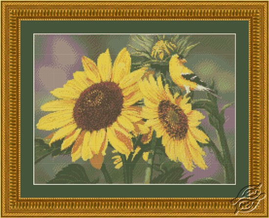 Sunflowers and Finch by Kustom Krafts - 97113