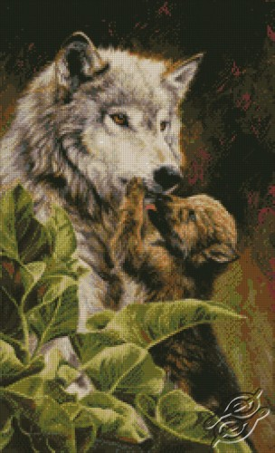 Wolf & Pup by Kustom Krafts - 98703