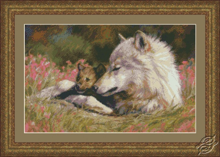Late Spring Wolf and Pup by Kustom Krafts - 98843