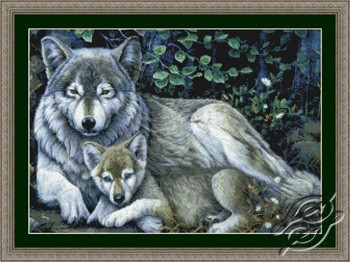 Mother's Pride - Wolf and Pup by Kustom Krafts - 99603