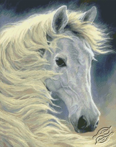 Midnight Glow- White Horse by Kustom Krafts - 98823