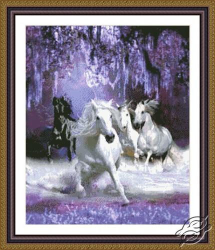 Horses in the Night by Kustom Krafts - 98963