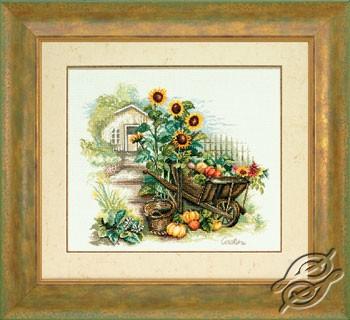Wheelbarrow And Sunflowers by Lanarte - PN-0007988