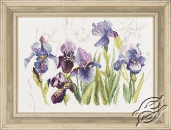 Triptych Blue Flowers - Irisses by Lanarte - PN-0008027