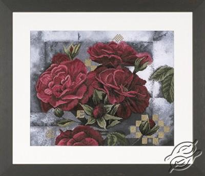 Red Roses on Black by Lanarte - PN-0008118