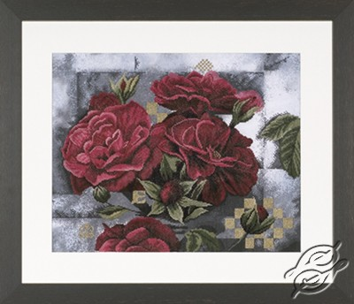Red Roses on Black by Lanarte - PN-0008268