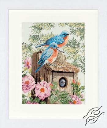 Garden Blue Birds by Lanarte - PN-0008325
