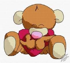 Hugging Teddy by HaftiX - patterns - 01155