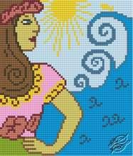 Hawaiian Woman by HaftiX - patterns - 01158