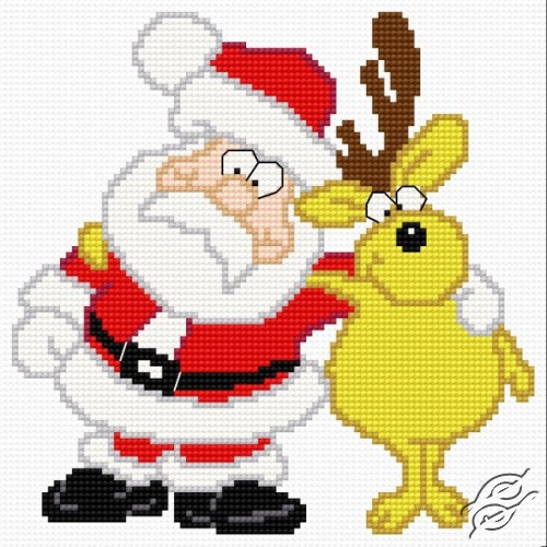 Santa Claus with a Reindeer by HaftiX - patterns - 01169