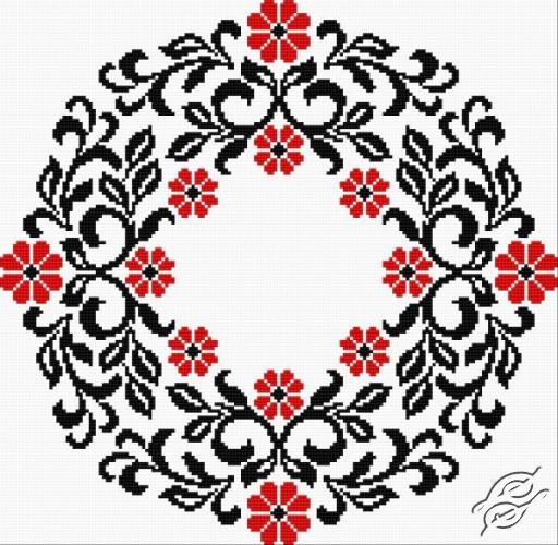 Ukrainian Embroidery - Ornament 130 by HaftiX - patterns - 00130